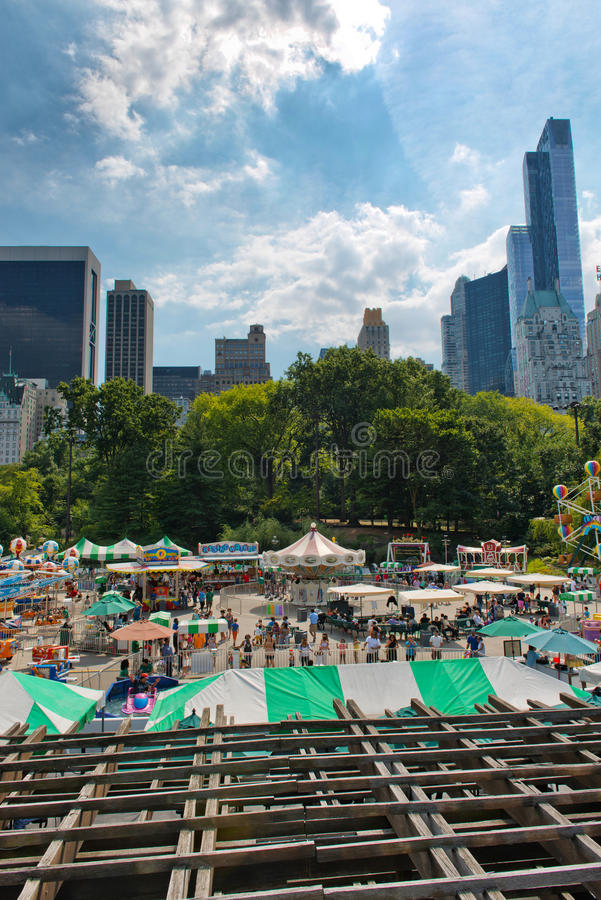 Manhattan Tents And Skyscrapers Stock Photo