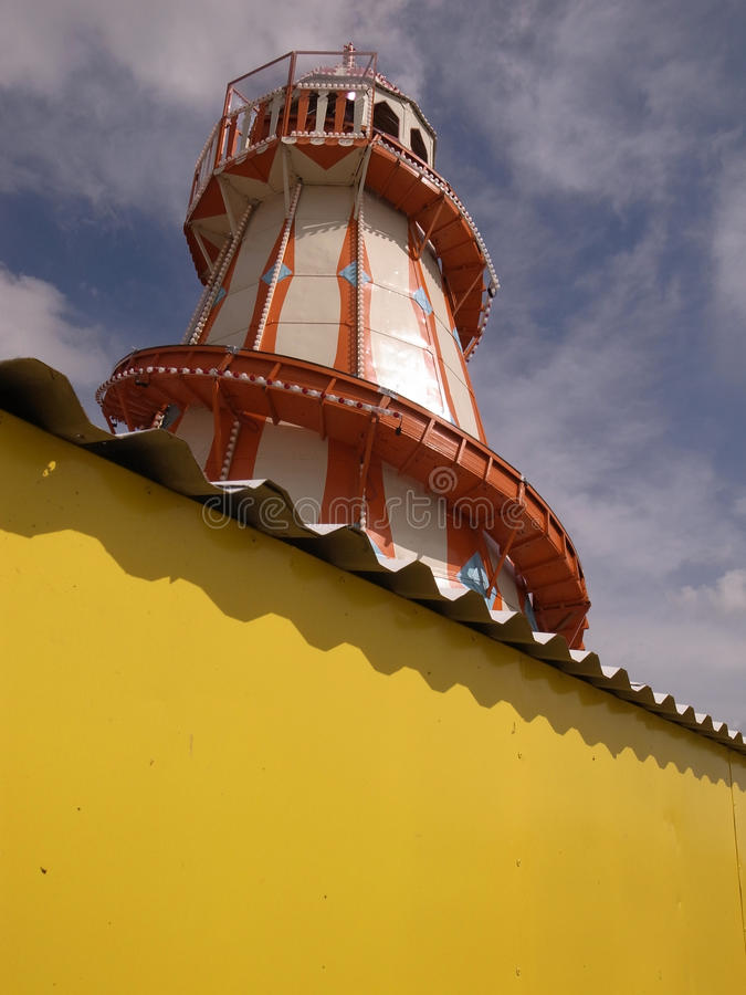 Download Fun fair helter skelter stock image. Image of tower, public - 11521965