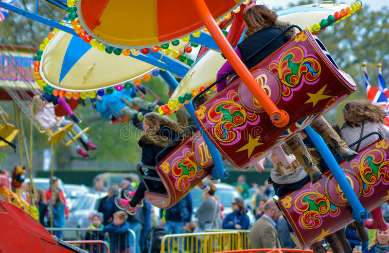Fun Fair Ride. A generic fair ride picture stock images