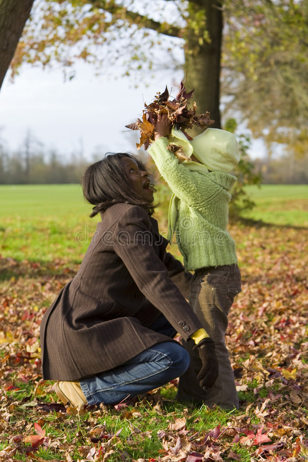 Fun In The Fall Royalty Free Stock Photography