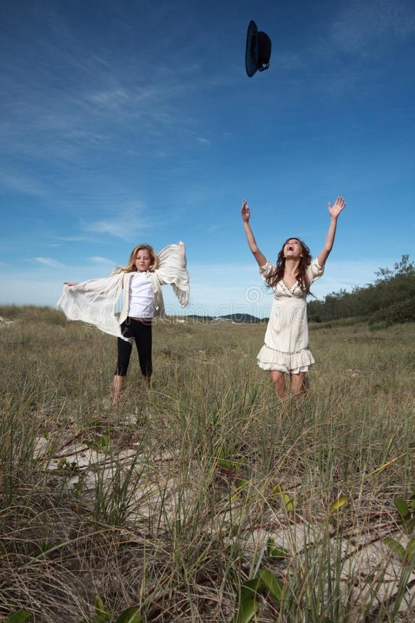 Fun in the Fields royalty free stock image