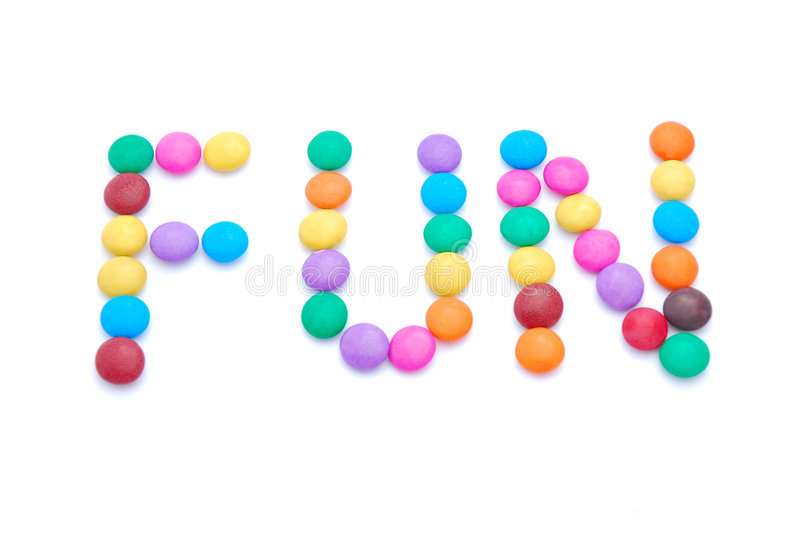 Fun food sweets for kids stock photo