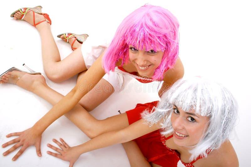 Download Fun Friends stock photo. Image of adorable, feminine, braced - 1420882