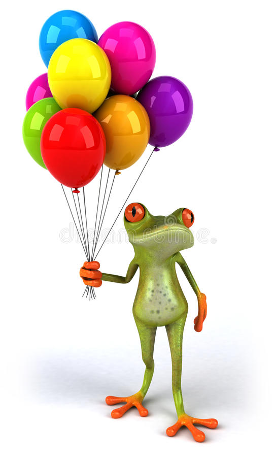Download Fun frog stock illustration. Image of design, helium - 31379101