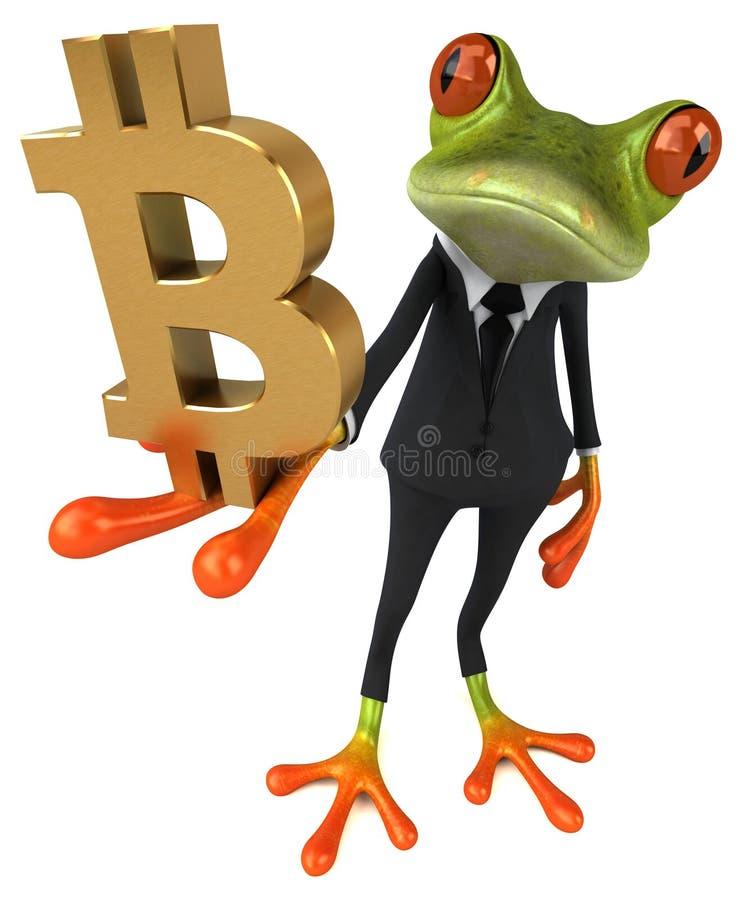 Fun frog - 3D Illustration vector illustration
