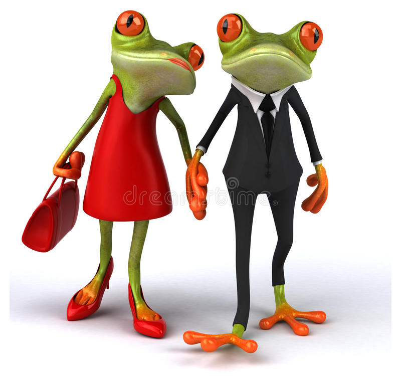Fun frogs stock illustration