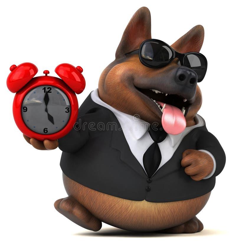 Fun german shepherd dog - 3D Illustration royalty free illustration
