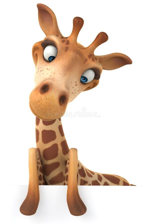 Download Fun giraffe stock illustration. Image of brown, illustration - 32736794