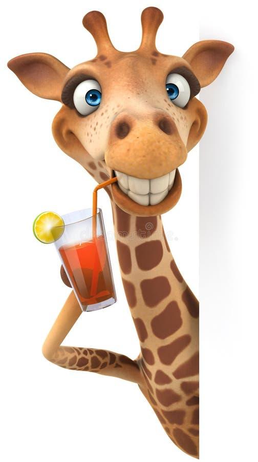 Fun giraffe royalty free illustration
