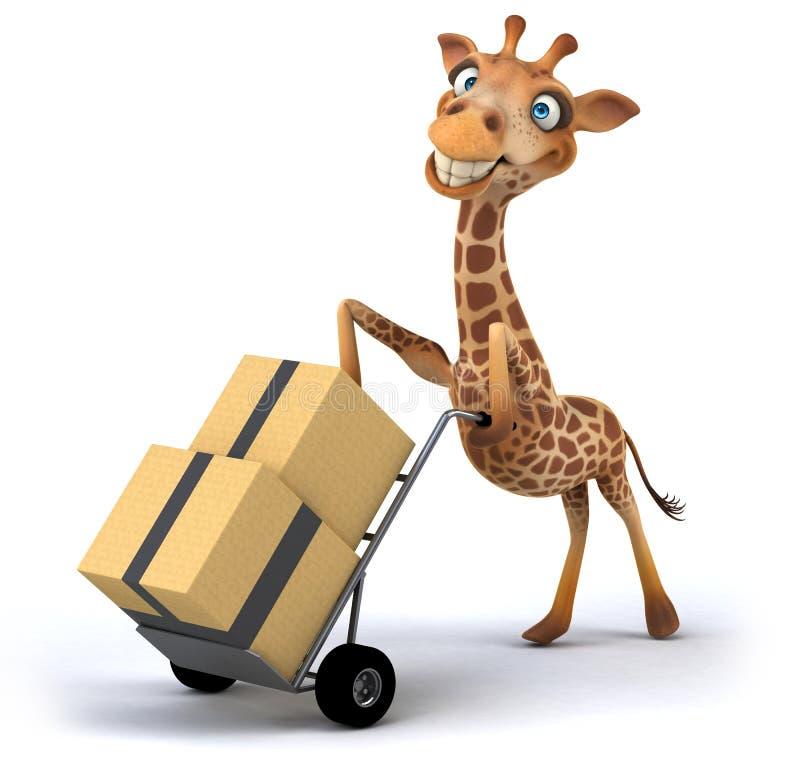 Download Fun giraffe stock illustration. Image of grassland, giraffe - 33252305