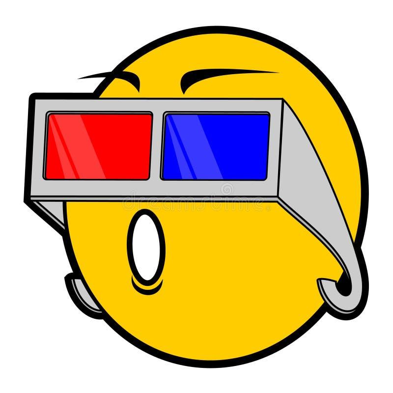 Download Fun glasses stock vector. Image of emoticon, cartoon - 21093282