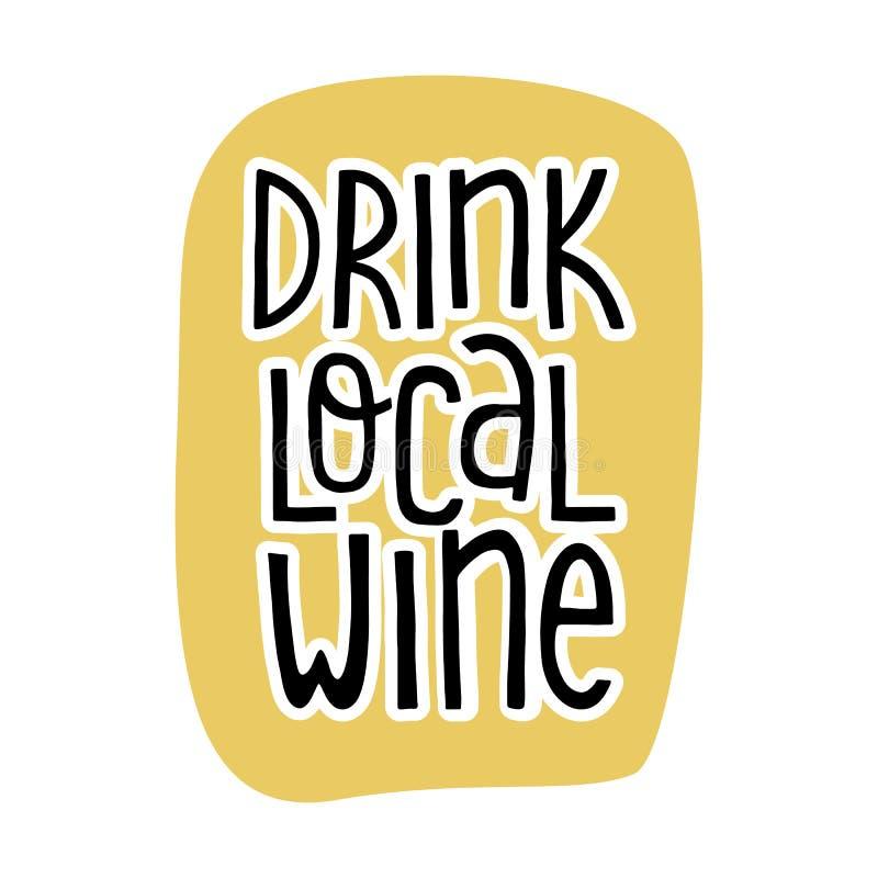 Lettering EAT LOCAL Pattern Logo Of Groceries Farm Fresh