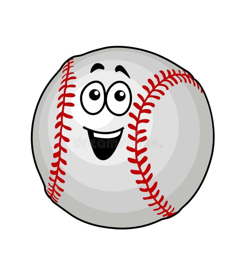 Fun happy baseball ball stock image