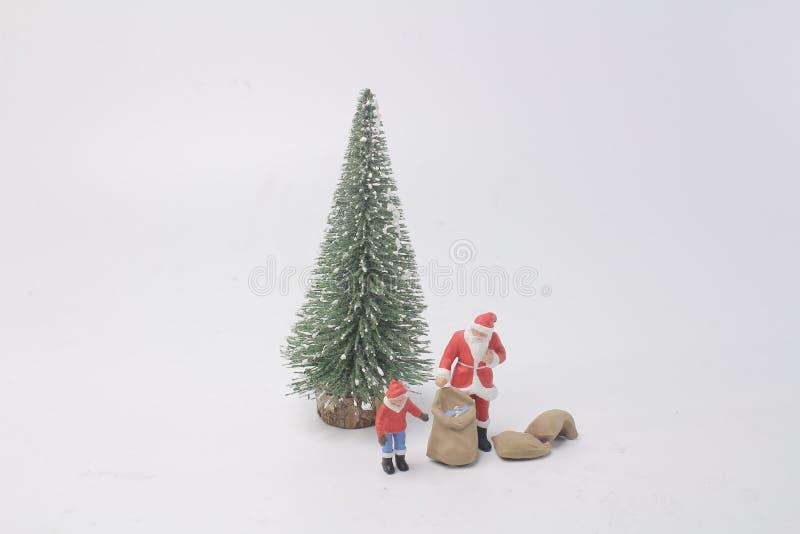 The fun of Happy Santa Claus Doll. A fun of Happy Santa Claus Doll royalty free stock photos