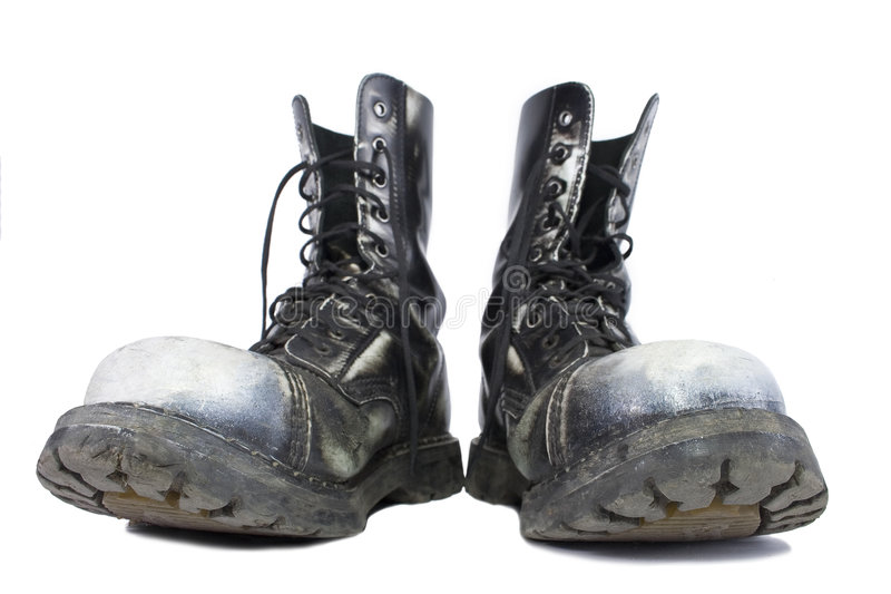 Fun heavy boots royalty free stock images