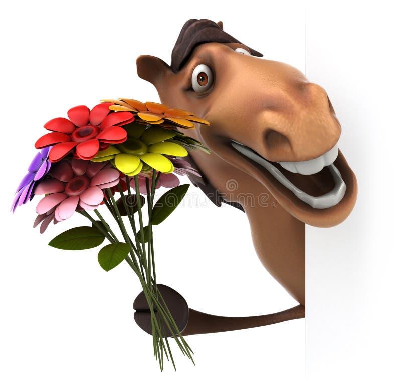 Fun horse royalty free illustration