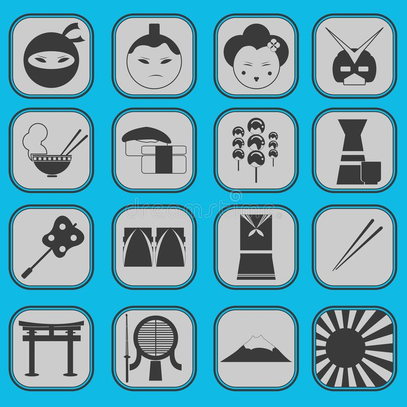 Download Fun Japanese Icon Pictogram Collection Set Complet Stock Photo - Image: 30597850