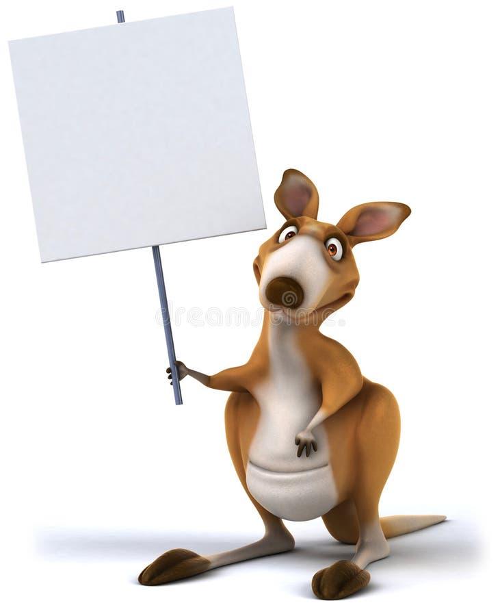 Fun kangaroo. 3d generated picture royalty free illustration