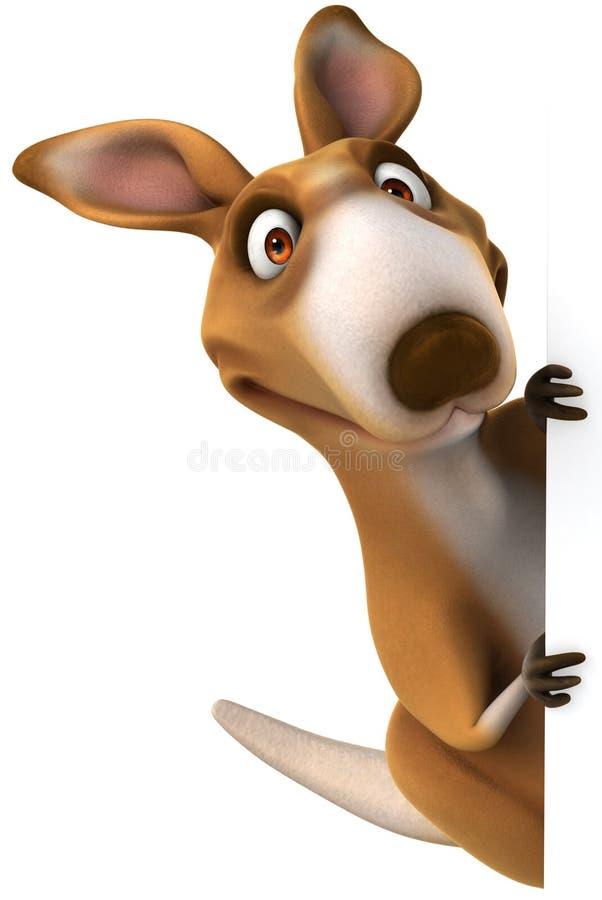 Fun kangaroo. 3d generated picture vector illustration