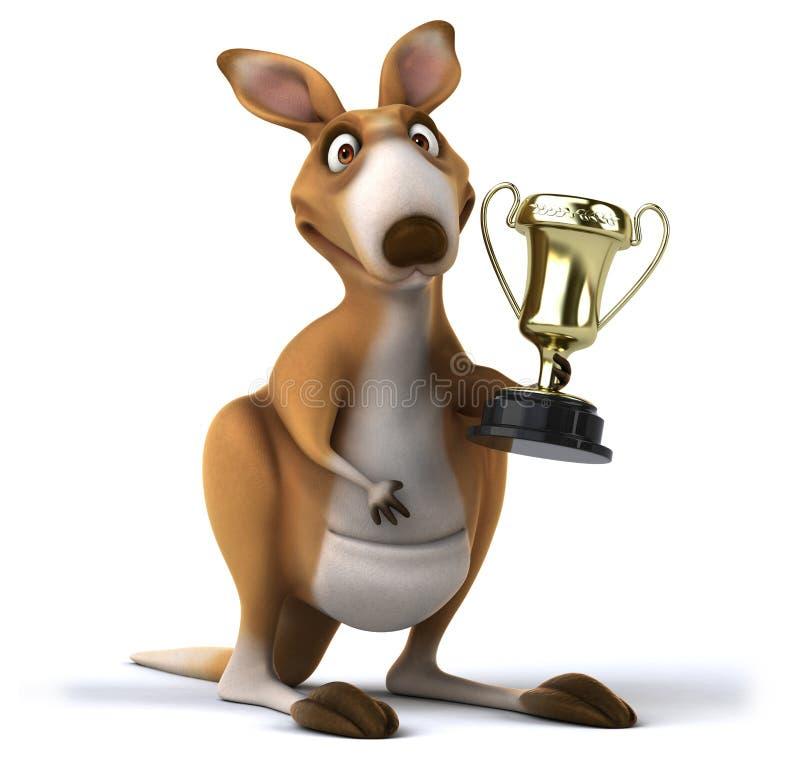 Fun kangaroo vector illustration
