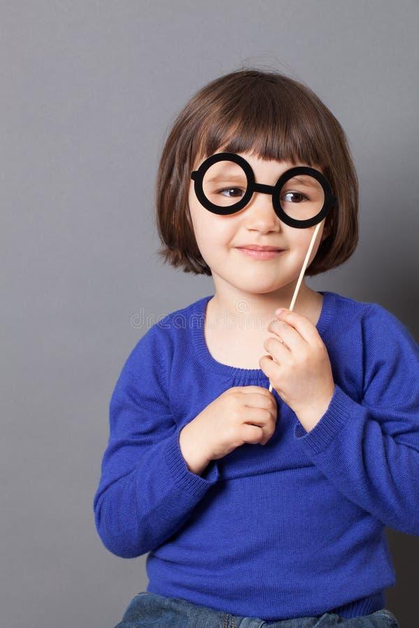 Fun kid glasses concept for eyesight royalty free stock photos