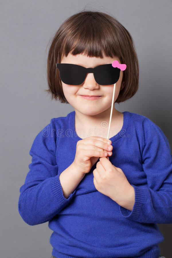 Fun kid glasses concept for looking like a star royalty free stock images