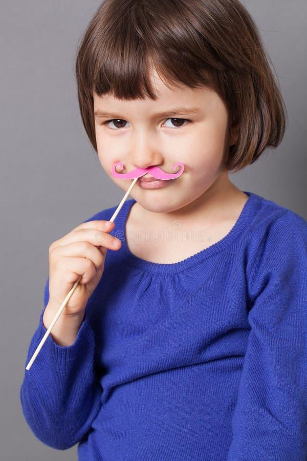 Fun kid moustache concept stock images