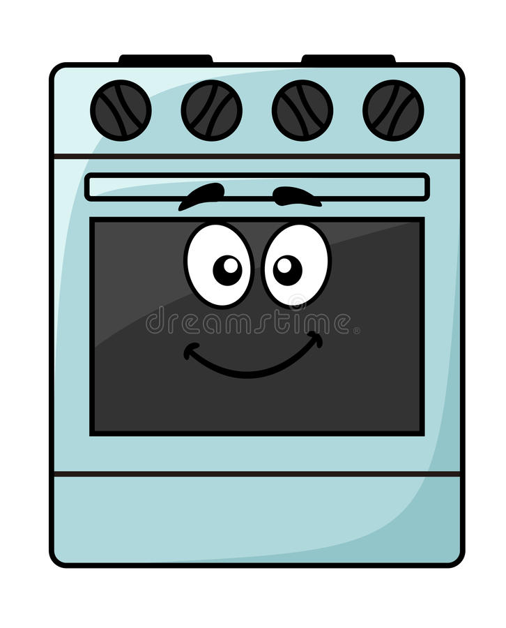 Cartoon Electric Cooker ~ Fun kitchen appliance a happy oven stock image