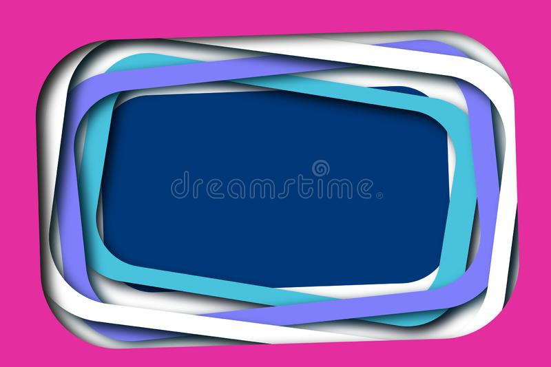Fun Layered Frames Background. Pink, Purple, Blue. royalty free stock images