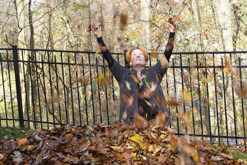 Download Fun With Leaves stock photo. Image of playful, fall, enjoyment - 27538794