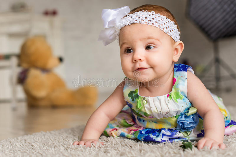 Fun little girl royalty free stock image