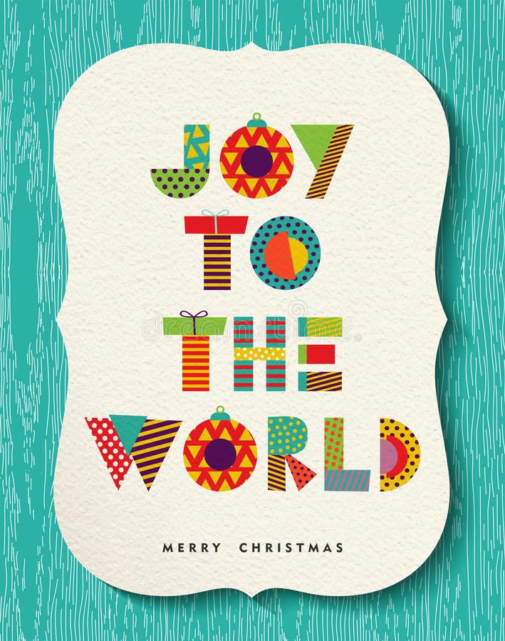 Fun Merry Christmas happy holiday quote design royalty free illustration