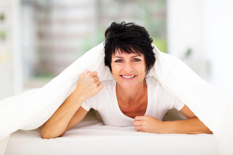 Fun Middle Aged Woman Stock Photography