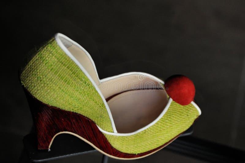Fun multi coloured female shoe