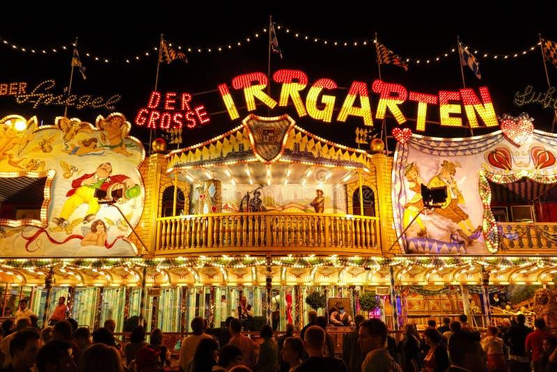 Oktoberfest beer festival in Munich, Germany. Fun at the Munich beer festival Oktoberfest, Bavaria Germany, Europe royalty free stock image