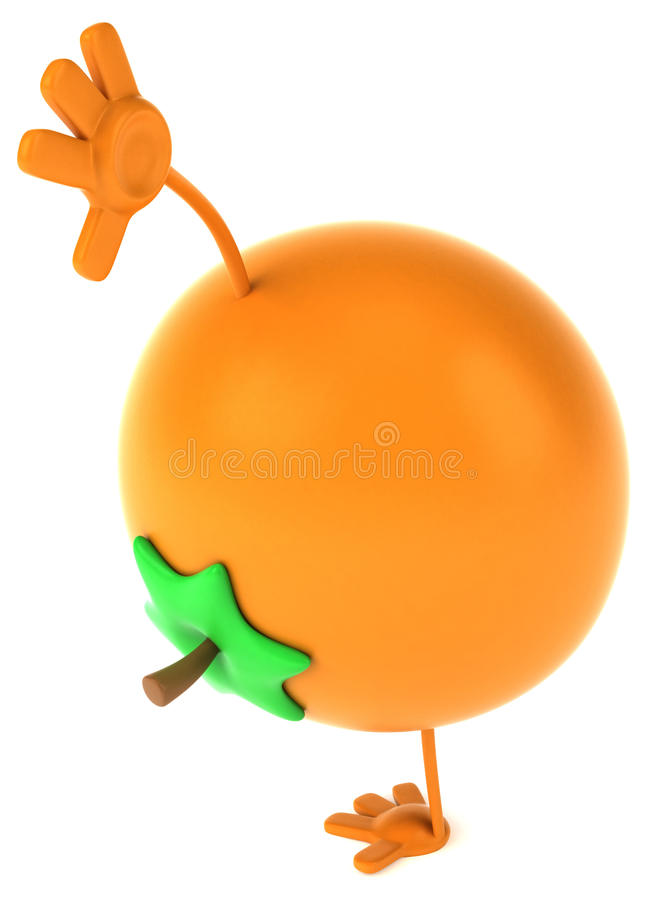 Fun orange vector illustration