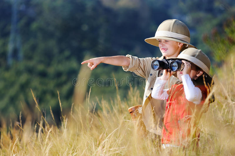 Download Fun Outdoor Children Playing Stock Image - Image of cute, meadow: 26170501