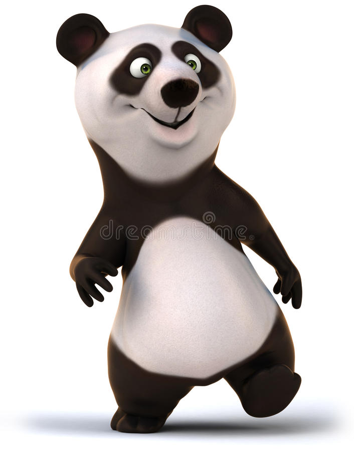Download Fun panda stock illustration. Image of strength, wild - 34650235