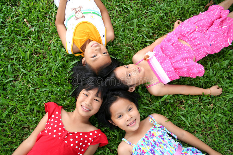 Fun in the park! stock photography