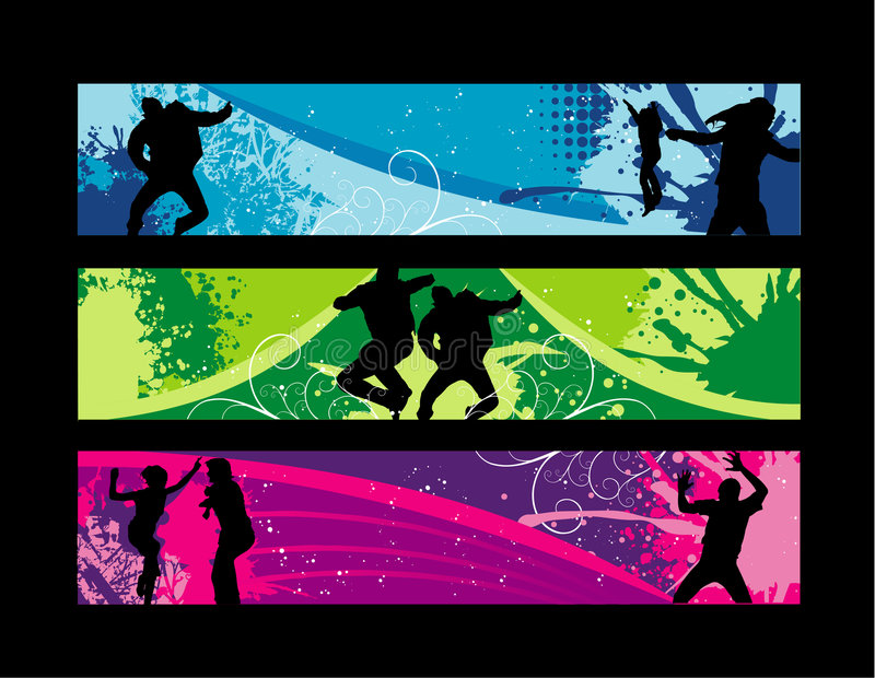 Fun people. Shapes over a colors background vector illustration