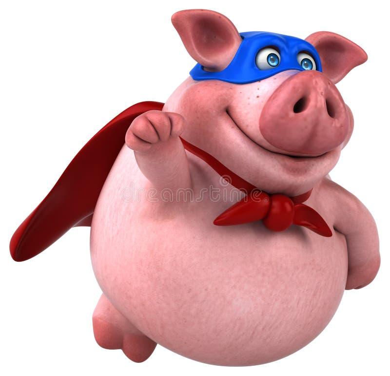 Free Fun Pig - 3D Illustration Stock Photography - 83814962