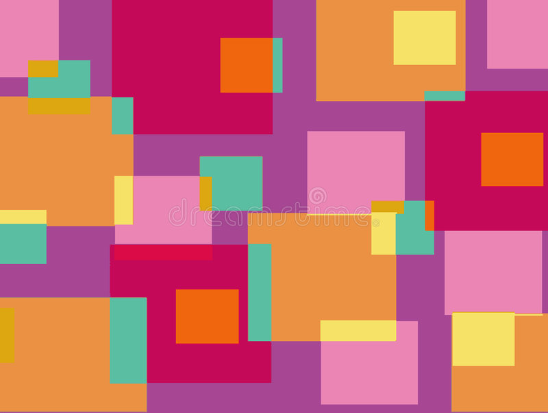 Fun pink and purple cubes. Background royalty free illustration