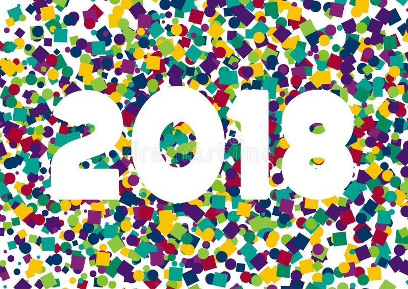 Happy New Year confetti 2018 royalty free stock image