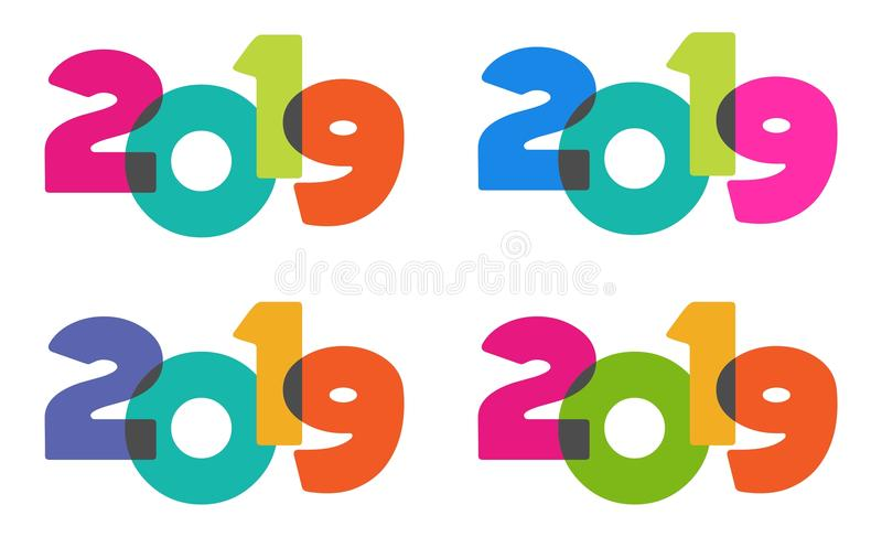 Happy new year colorful fun playful 2019 transparent text stock download happy new year colorful fun playful 2019 transparent text stock illustration illustration of background voltagebd Images