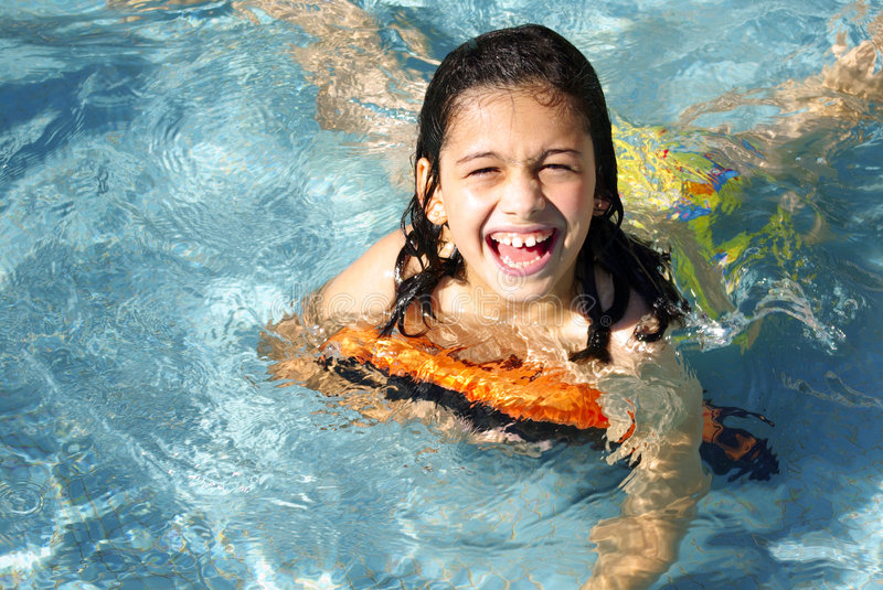 Download Fun in the Pool stock photo. Image of cute, girl, child - 2907828