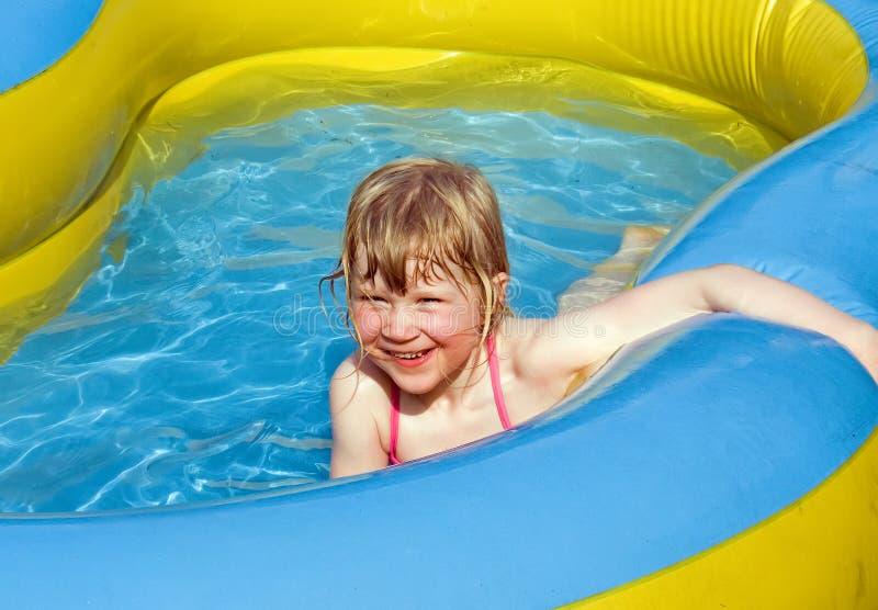 Fun in the pool stock photography