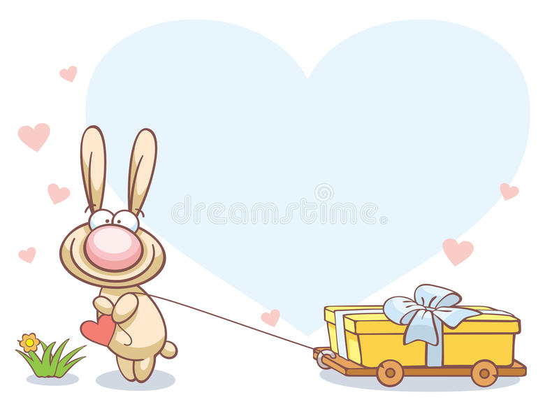 Download Fun Rabbit On Valentine's Day Stock Vector - Image: 12267231