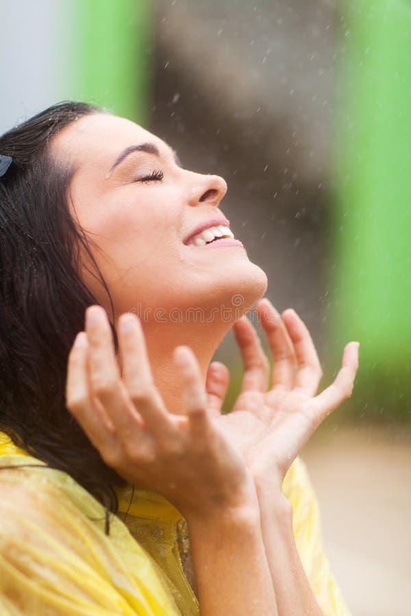 Download Fun in rain stock image. Image of beautiful, face, cheerful - 28593057