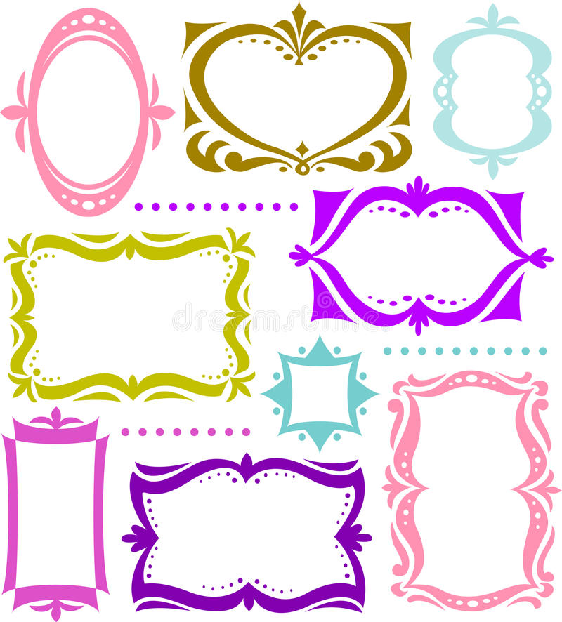 Fun Retro Shape Frame Collection/ai Stock Vector - Illustration of ...