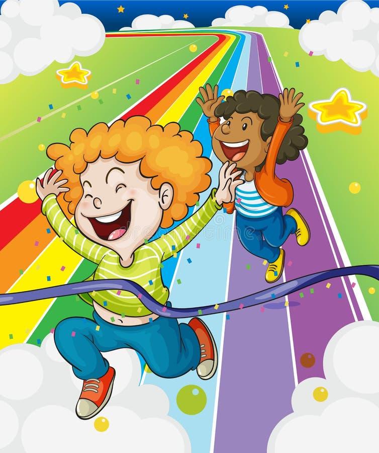 Download A Fun Run Race Stock Vector Illustration Of Kids Children